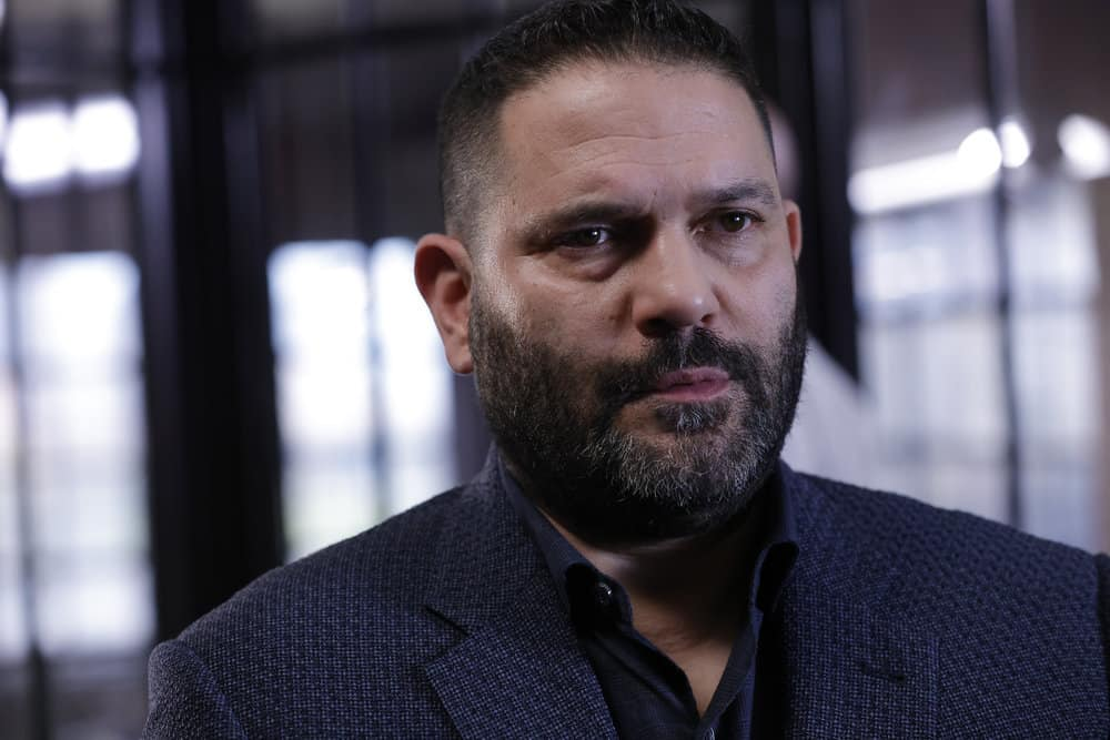 """LAW AND ORDER ORGANIZED CRIME Season 2 Episode 4 -- """"For A Few More Leke More"""" Episode 204 -- Pictured: Guillermo Diaz as Sgt. Bill Brewster -- (Photo by: Will Hart/NBC)"""