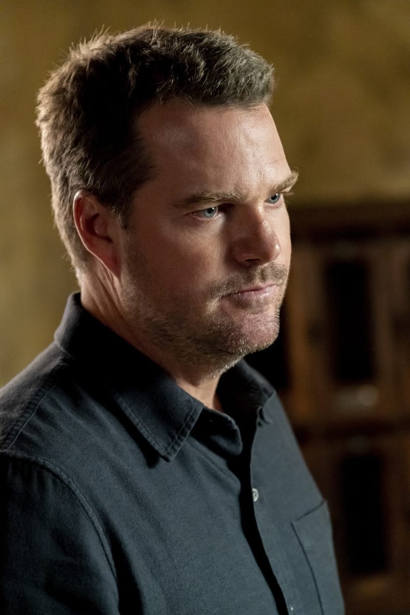 """NCIS LOS ANGELES Season 13 Episode 1 """"Subject 17"""" - Pictured: Chris O'Donnell (Special Agent G. Callen). While Callen suspects Hetty of keeping secrets about his past and Joelle surfaces in her quest to capture Katya, NCIS must track down an informant whose life is in danger.  Also, Kensi and Deeks work to expand their family, on the 13th season premiere of NCIS: LOS ANGELES, Sunday, Oct. 10 (9:00-10:00 PM, ET/PT) on the CBS Television Network and available to stream live and on demand on the CBS app and Paramount+. Robert Voets/CBS ©2021 CBS Broadcasting, Inc. All Rights Reserved."""