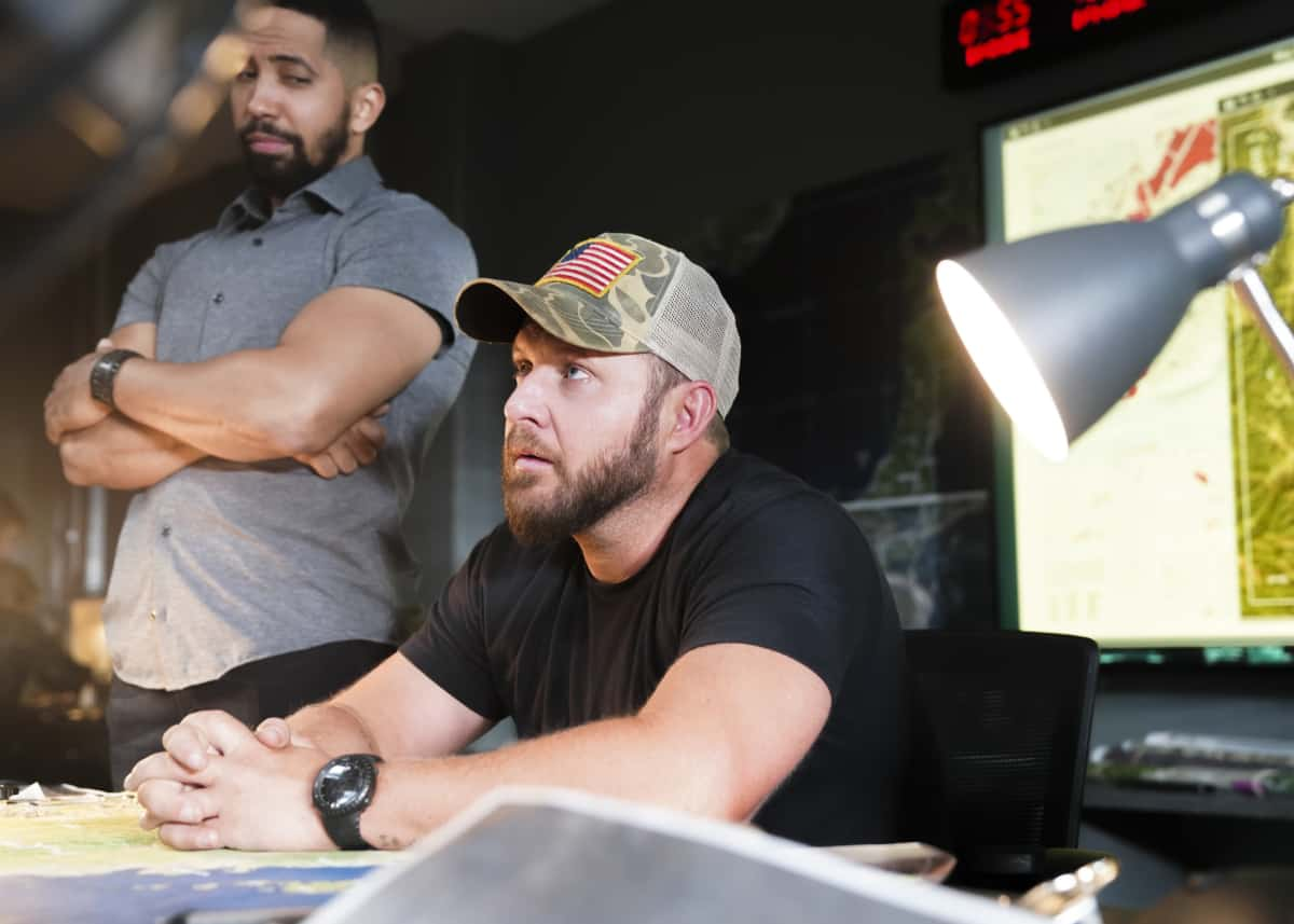 """SEAL TEAM Season 5 Episode 1 """"Trust, But Verify: Part 1"""" – Everyone on Bravo is shocked when they learn a training exercise is really cover for a covert mission to get a weapons expert out of one of the most dangerous countries in the world, on the fifth season premiere of SEAL TEAM, Sunday, Oct. 10 (10:00-11:00 PM, ET/PT) on the CBS Television Network, and available to stream live and on demand on Paramount+. Pictured L to R: Neil Brown Jr. as Ray Perry, AJ Buckley as Sonny Quinn. Photo: Ron P. Jaffe/CBS ©2021 CBS Broadcasting, Inc. All Rights Reserved."""