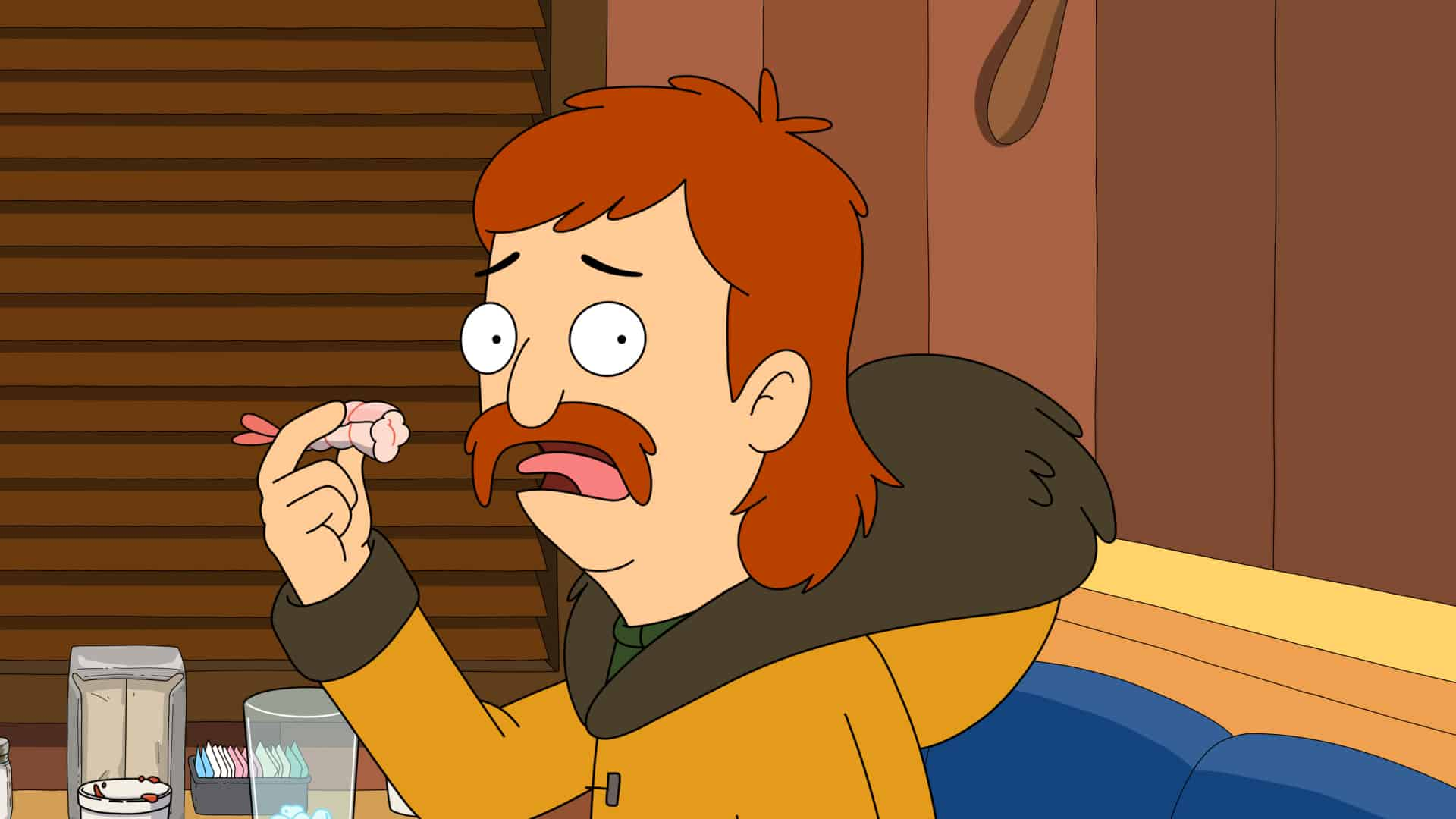"""THE GREAT NORTH Season 2 Episode 3: Moon, Judy and Ham try to survive Alaska's darkest and spookiest day of the year. Meanwhile, Wolf and Honeybee attempt to replace Beef's favorite shirt in the """"The Yawn of the Dead Adventure [Halloween]"""" Halloween-themed episode of THE GREAT NORTH airing Sunday, Oct. 10 at 8:31-9:00 PM ET/PT on FOX. THE GREAT NORTH © 2021 by 20th Television and Fox Media LLC."""