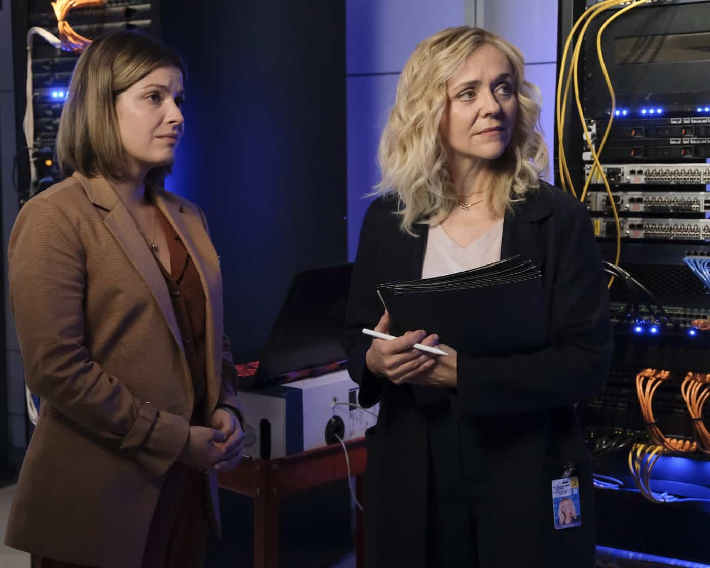 """THE GOOD DOCTOR Season 5 Episode 3 - """"Measure of Intelligence"""" – Shaun confronts Salen (Rachel Bay Jones) about the many changes she has implemented since coming on at St. Bonaventure, and Glassman is forced to accept his new role at the hospital on an all-new """"The Good Doctor,"""" MONDAY, OCT. 11 (10:00-11:00 p.m. EDT), on ABC. (ABC/Jeff Weddell) PAIGE SPARA, RACHEL BAY JONES"""