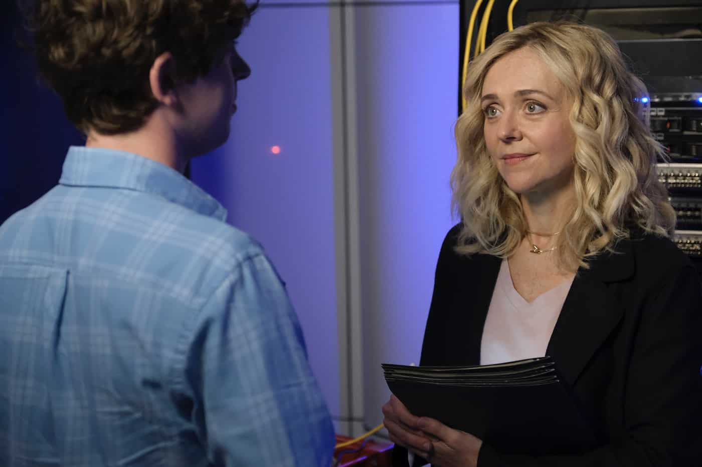 """THE GOOD DOCTOR Season 5 Episode 3 - """"Measure of Intelligence"""" – Shaun confronts Salen (Rachel Bay Jones) about the many changes she has implemented since coming on at St. Bonaventure, and Glassman is forced to accept his new role at the hospital on an all-new """"The Good Doctor,"""" MONDAY, OCT. 11 (10:00-11:00 p.m. EDT), on ABC. (ABC/Jeff Weddell) RACHEL BAY JONES"""