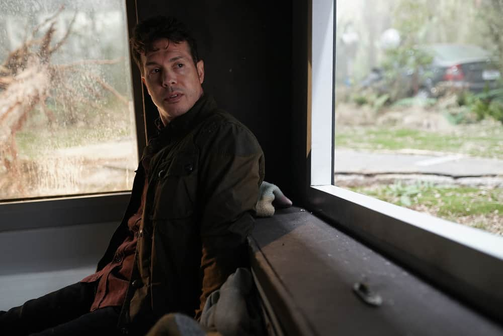 "LA BREA Season 1 Episode 3 -- ""The Hunt"" Episode 103 -- Pictured: Jon Seda as Dr. Samuel Valez -- (Photo by: Sarah Enticknap/NBC)"