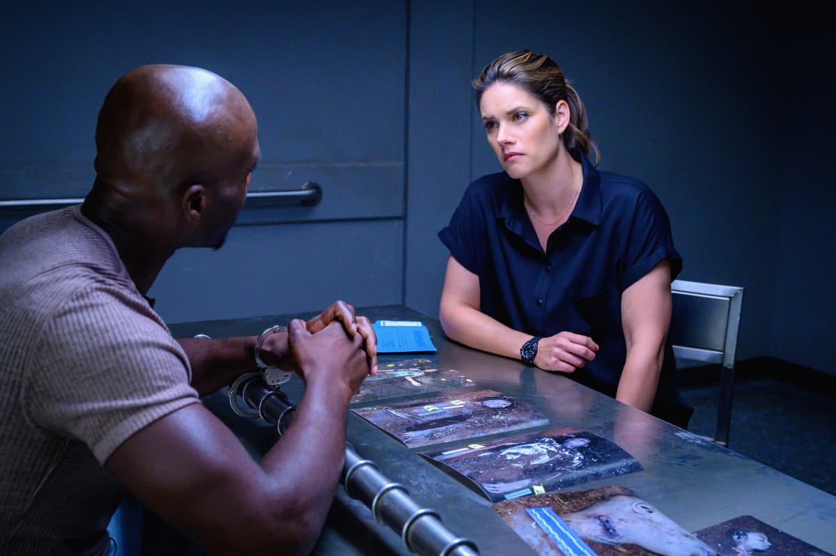 """FBI Season 4 Episode 4 """"Know Thyself"""" -- The team hunts for a serial killer who is targeting young, homeless men. Also, Tiffany and Scola don\'t see eye to eye on how to handle the case or the difference between partners and co-workers, on the CBS Original series FBI, Tuesday, Oct. 12 (8:00-9:00 PM, ET/PT) on the CBS Television Network, and available to stream live and on demand on Paramount+.   Pictured Missy Peregrym as Special Agent Maggie Bell  Photo: David M. Russell/CBS 2021 CBS Broadcasting, Inc. All Rights Reserved"""
