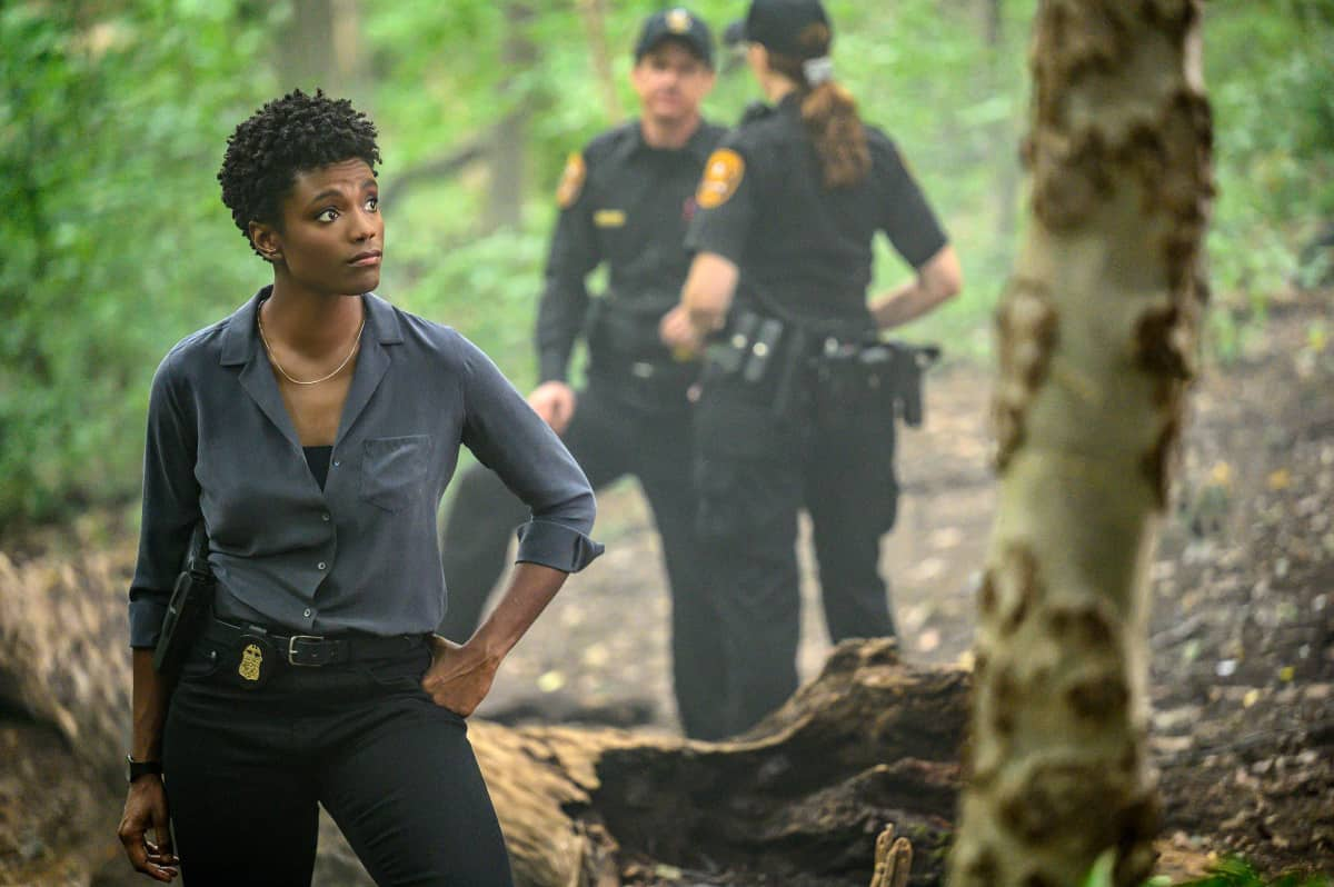 """FBI Season 4 Episode 4 """"Know Thyself"""" -- The team hunts for a serial killer who is targeting young, homeless men. Also, Tiffany and Scola don\'t see eye to eye on how to handle the case or the difference between partners and co-workers, on the CBS Original series FBI, Tuesday, Oct. 12 (8:00-9:00 PM, ET/PT) on the CBS Television Network, and available to stream live and on demand on Paramount+.   Pictured Katherine Renee Turner as Special Agent Tiffany Wallace   Photo: David M. Russell/CBS 2021 CBS Broadcasting, Inc. All Rights Reserved"""