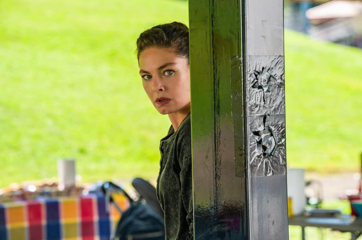 """FBI MOST WANTED Season 3 Episode 4 """"Inherited"""" - The team must determine if the kidnapping of a young Chinese-American woman is a random hate crime or if she was specifically targeted, in order to find her. Also, Jess and Sarah struggle with Tali's continued rebellious streak, on the CBS Original series FBI: MOST WANTED, Tuesday, Oct. 12 (10:00-11:00 PM, ET/PT) on the CBS Television Network, and available to stream live and on demand on Paramount+. Pictured Alexa Davalos as Special Agent Kristin Gaines Photo: Mark Schafer/CBS ©2021 CBS Broadcasting, Inc. All Rights Reserved"""