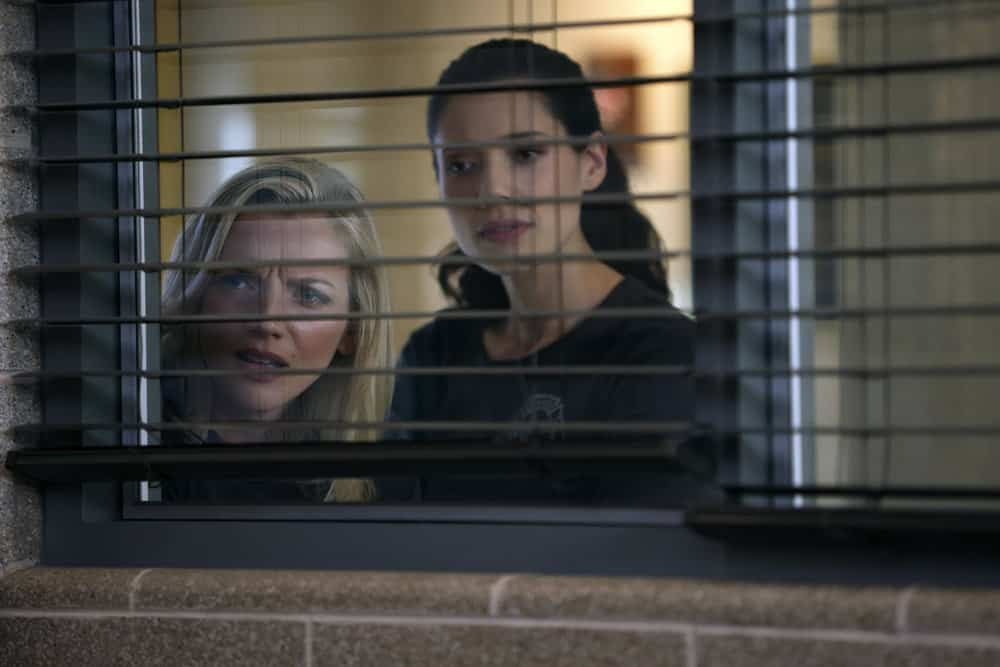 "CHICAGO FIRE Season 10 Episode 4 -- ""The Right Thing"" Episode 1004 -- Pictured: (l-r) Kara Killmer as Sylvie Brett, Hanako Greensmith as Violet -- (Photo by: Adrian S. Burrows Sr./NBC)"