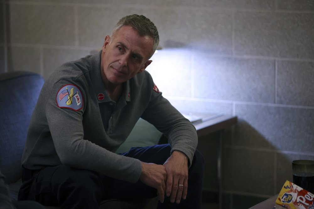 """CHICAGO FIRE Season 10 Episode 4 -- """"The Right Thing"""" Episode 1004 -- Pictured: David Eigenberg as Christopher Herrmann -- (Photo by: Adrian S. Burrows Sr./NBC)"""