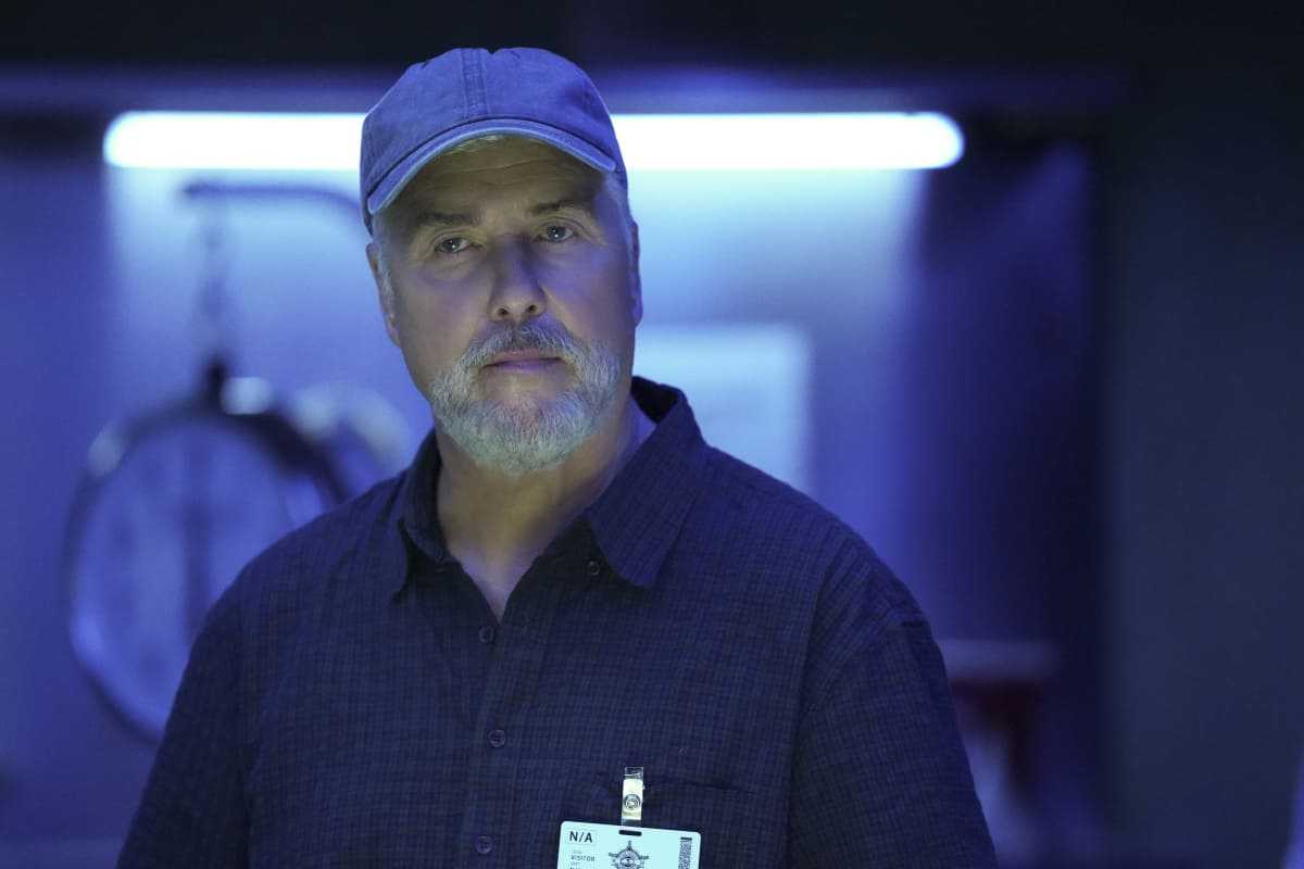 """CSI VEGAS Season 1 Episode 2 """"Honeymoon in Vegas"""" Gil Grissom and Sara Sidle come to the aid of a former colleague whoÕs been implicated in tampering with evidence. The rest of the CSI team works the murder of a couple slain on their wedding day, following the evidence to the salacious underbelly of the Las Vegas elite on CSI: VEGAS, Wednesday, Oct. 13 (10:00-11:00 PM, ET/PT) on the CBS Television Network and available to stream live and on demand on Paramount+. Pictured: William Petersen as Dr. Gil Grissom Photo: Sonja Flemming/CBS ©2021 CBS Broadcasting, Inc. All Rights Reserved."""