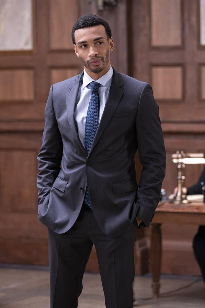 """LAW AND ORDER SVU Season 23 Episode 5 -- """"Fast Times @TheWheelHouse"""" Episode 23005 -- Pictured: Julian Elijah Martinez as Counselor Swope -- (Photo by: Eric Liebowitz/NBC)"""