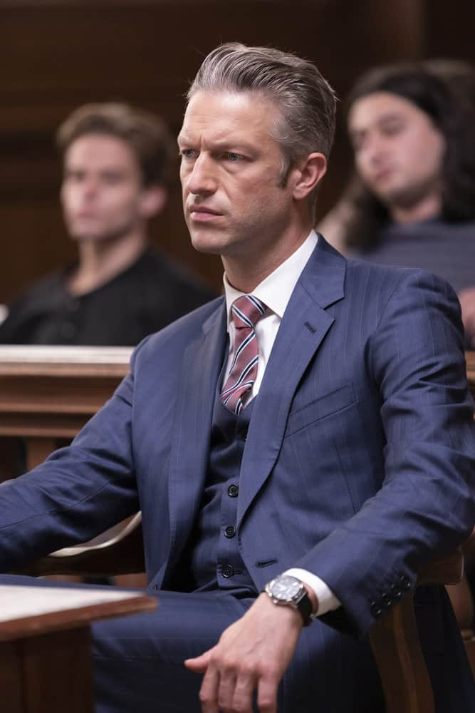 """LAW AND ORDER SVU Season 23 Episode 5 -- """"Fast Times @TheWheelHouse"""" Episode 23005 -- Pictured: Peter Scanavino as Assistant District Attorney Sonny Carisi -- (Photo by: Eric Liebowitz/NBC)"""